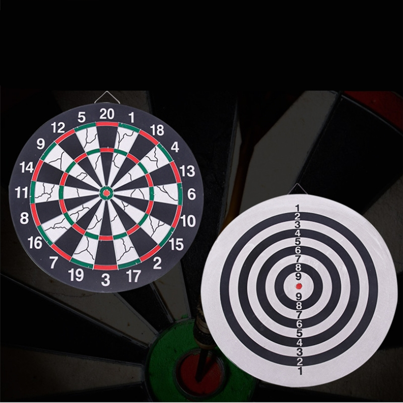 New Hot Indoor Sport 29.5cm-40.5cm Diameter Double Target Dart Magnetic Flocking Dartboard Board  Entertainment Dart Need Free