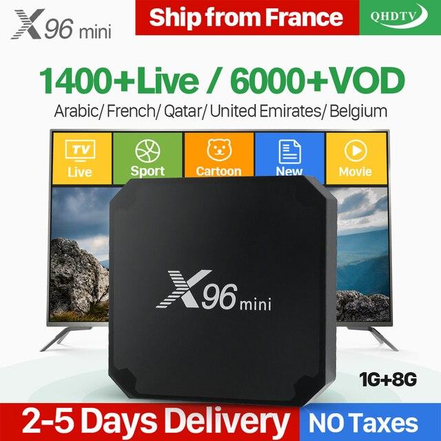 X96 Mini Android 7.1 Pháp IP TIVI Box Quad Core QHDTV Châu Âu Set Top Box X96mini 1 Năm IPTV Bỉ người Hà Lan Pháp Tiếng Ả Rập IPTV