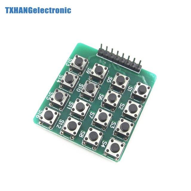 Интегральные схемы 8pin 4x4 4*4 Матрица 16 кнопок клавиатуры макет модуль Mcu для arduino электронный diy Kit