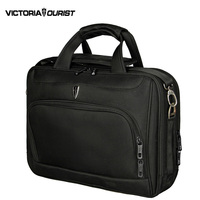 VICTORIATOURIST Black Laptop Briefcase Men Men Waterproof Nylon Briefcase Mens Business Bag Handbag For Men V7001