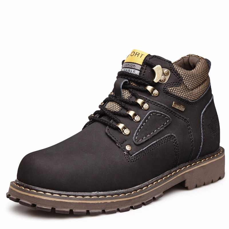 VMUKSAN Brand New Winter Shoes Men Big Size 38-47 Split Leather Men s Boots  2018 6cdc63dc0c8a