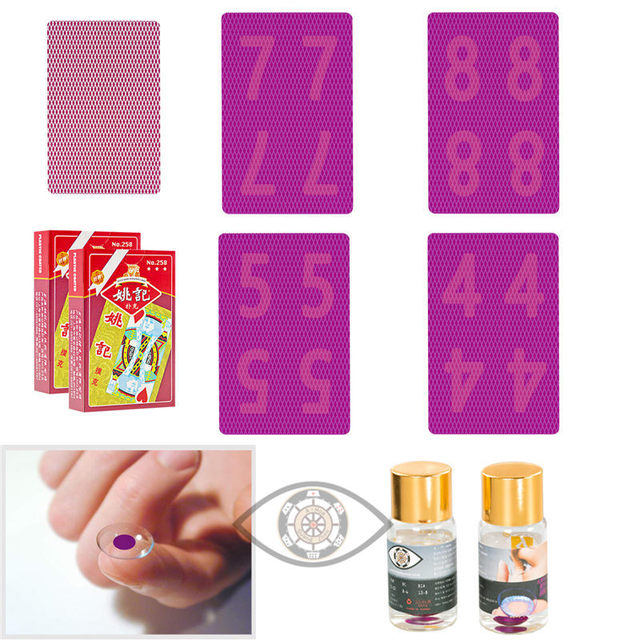 06570aaefb12 Perspective Poker YaoJi Marked Cards For Poker Glasses Invisible Ink Marker  Magic Poker Anti Gamble Cheat and Poker Cheat-in Playing Cards from Sports  ...