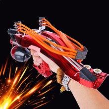 Мощный катапульта полный набор рыболовная Рогатка Лазерная Рогатка со стрелкой супер сильная для охоты стрельбы арбалет
