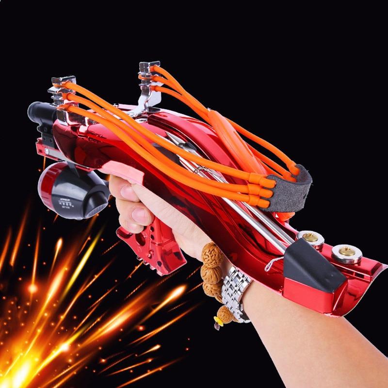 Powerful Catapult Full Set Fishing Slingshot Laser Slingshot With Arrow Rest super strong Slingshot Hunting Shooting Crossbow