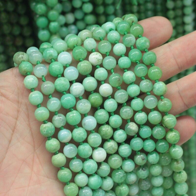 Оптовая продажа 5 нитей! 8 мм Хризопраз Камень бусины натуральный драгоценный камень Бусины DIY свободные бусины для изготовления ювелирных и