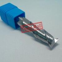 1 pc 16mm D16 * 45 * D16 * 150-HRC50 2 Flautas fresas para CNC Ferramentas de Alumínio Sólido CNC Carbide flat End mills Router bits
