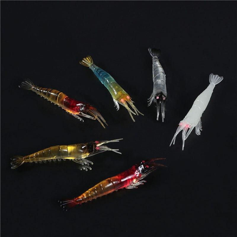 10pcs Shrimps Fishing Lures 95mm 3.5g Swimbaits No Hook Silicone Soft Bait Carp Fishing Artificial Soft Lure 6 Color FU421