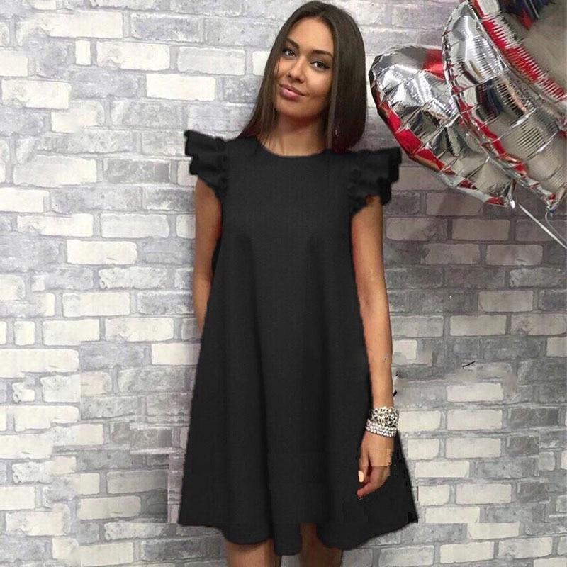 076 red À Manches De Simple Robes white Femmes Black Poupée Courtes qTap0xw 4a1e0e35f44