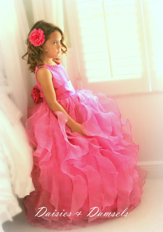 Red Flower Girl Dresses Real Party Pageant Communion Dress Little Girls Kids/Children Dress for Wedding Mother Daughter Dresses купить