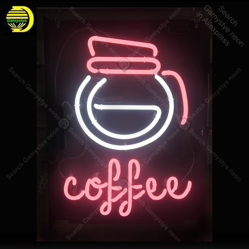 Coffee Pot Neon Sign Neon Bulbs sign custom design Iconic Beer Bar Pub Club light Lamps Sign display advertise enseigne lumine|Neon Bulbs & Tubes| |  - title=