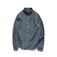 New Fashion Mens Plaid Shirt Cotton High Quality  Shirts Men Casual Slim Fit Long Sleeve Shirt  Men Clothes