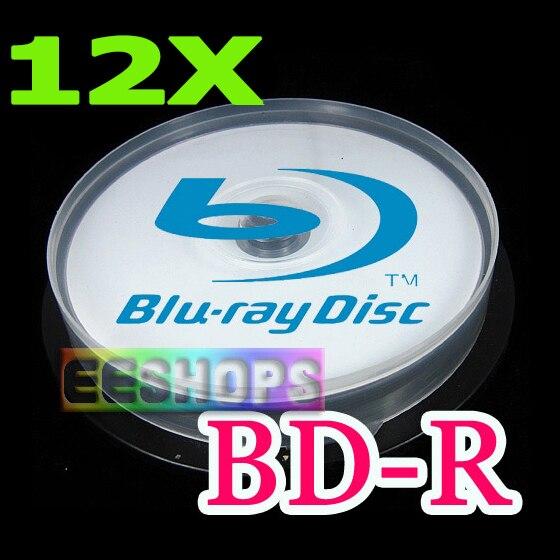 Cheap 6X 12X Recordable Blank <font><b>Blu-ray</b></font> Disc 50GB <font><b>50</b></font> GB BD-R DL Dual Layer 260min Printable DVD Discs Lot 10pcs Spindle Pack Case