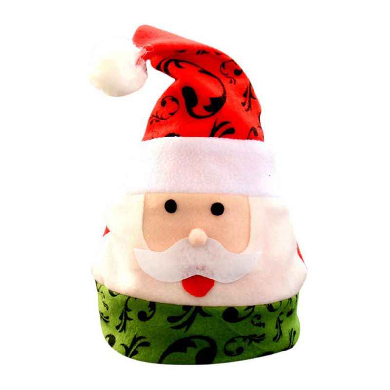 632b5e1a620 ... Funny Santa Claus Snowman Pattern Hats Multi-designs Christmas Hats  Adult Kids for Xmas Party
