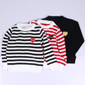 INS new autumn Europe Children's striped pattern sweater boy girl long sleeve clothes baby cotton knitting top