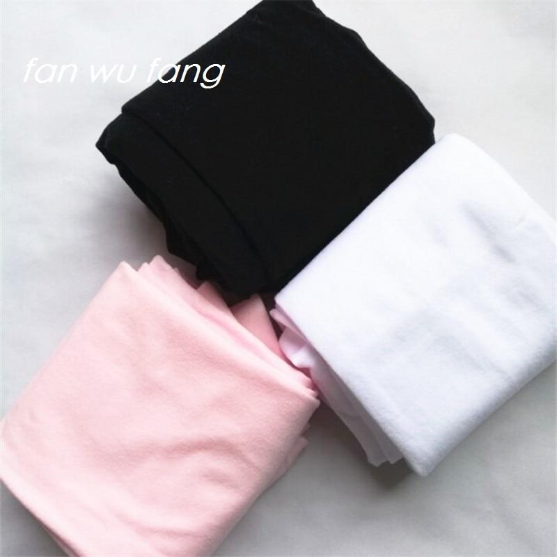 Fan Wu Fang 3 Colors Solid Female Girls Ballet Dance Tights Velvet Thin Pantyhose Knee High Socks Soft Stockings Children Kids