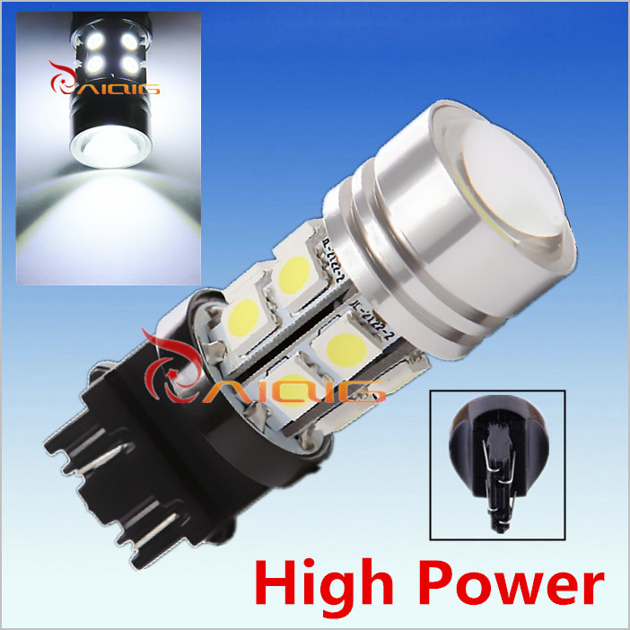 3156 3157 Led High Power 12 SMD 5050 White rear brake Lights 5W Bulb Lamp p27/7w led car bulbs Car Light Source 12V