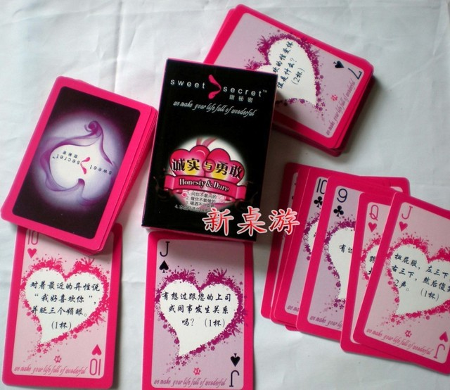 Truth or sex game cards