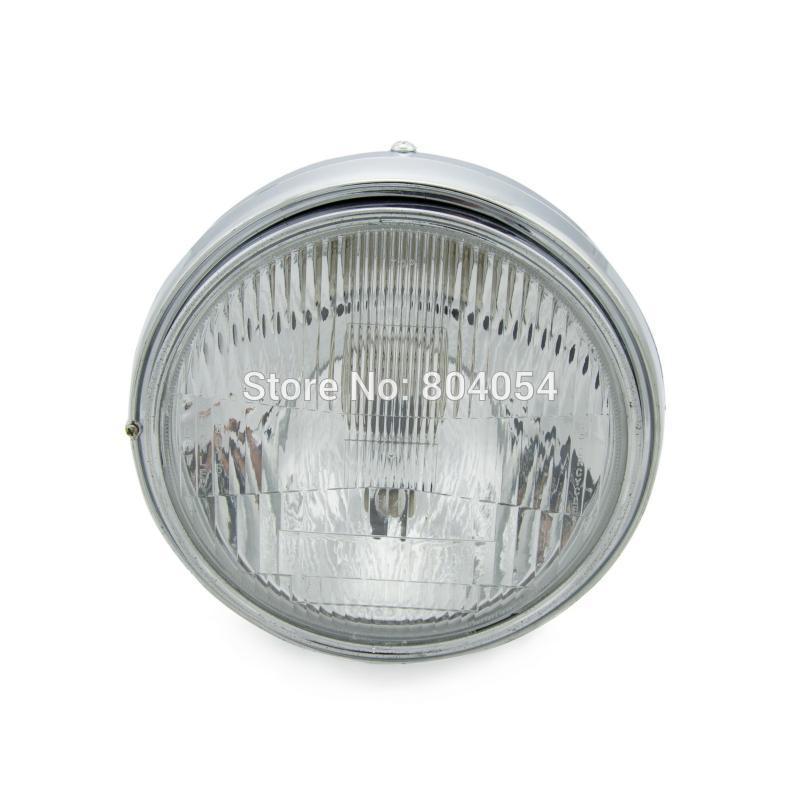 Chrome Headlight Head Lamp For Honda CB400 CB500 CB1300 VTEC VTR250 Hornet 250 600 900 CB250 CB600 CB900 brand new engine guards crash bar for honda cb400 vtec 1999 2007 00 01 03 04 05