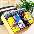 4 pcs/lot  set cartoon male panties sexy full men's trunk low-waist similar  cotton panties male underwear men