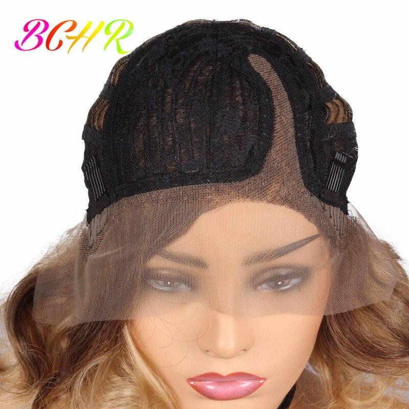 BCHR Syntetisk hög temperatur Fiber Snörning Fram Paryk 12inch Kort - Syntetiskt hår - Foto 6