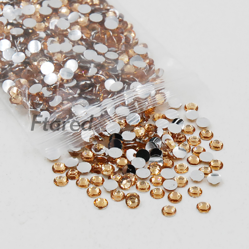 Sale Ss6 2mm 5000pcspack Champagne Rhinestones For 3d Nail Art