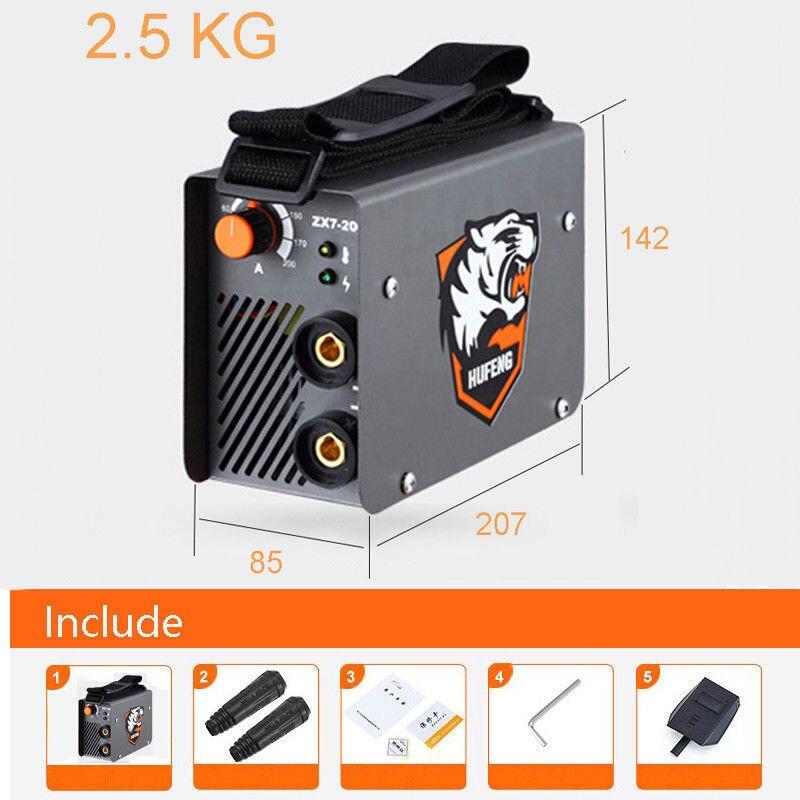 Portable Mini MMA Welder AC 220V Arc Electric Welding Machine 10-200A DIY Welding Rod 2.5mm Free Shipping