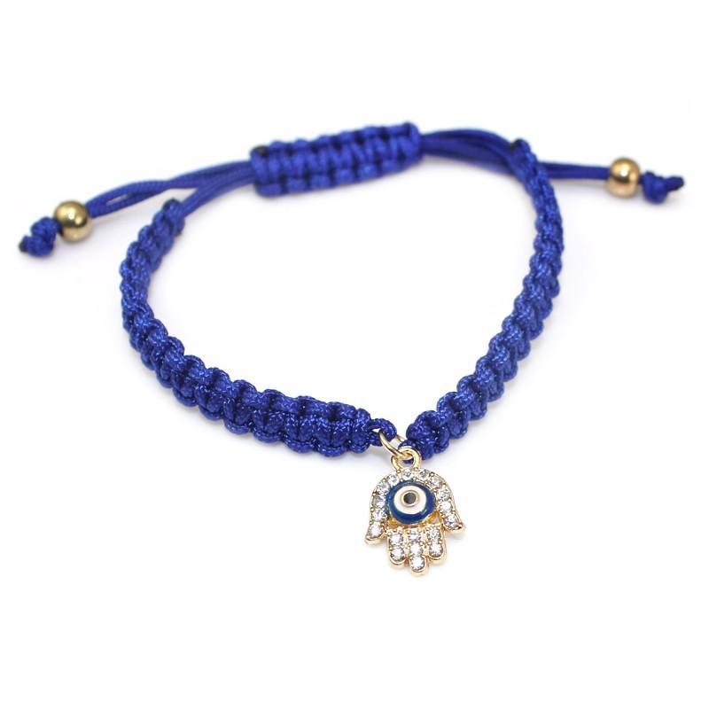 Handmade Braided Rope Bracelets Red Thread Turkish Jewelry Crystal Hamsa Hand Charm Bracelets Bring Lucky Peaceful Bracelets 26