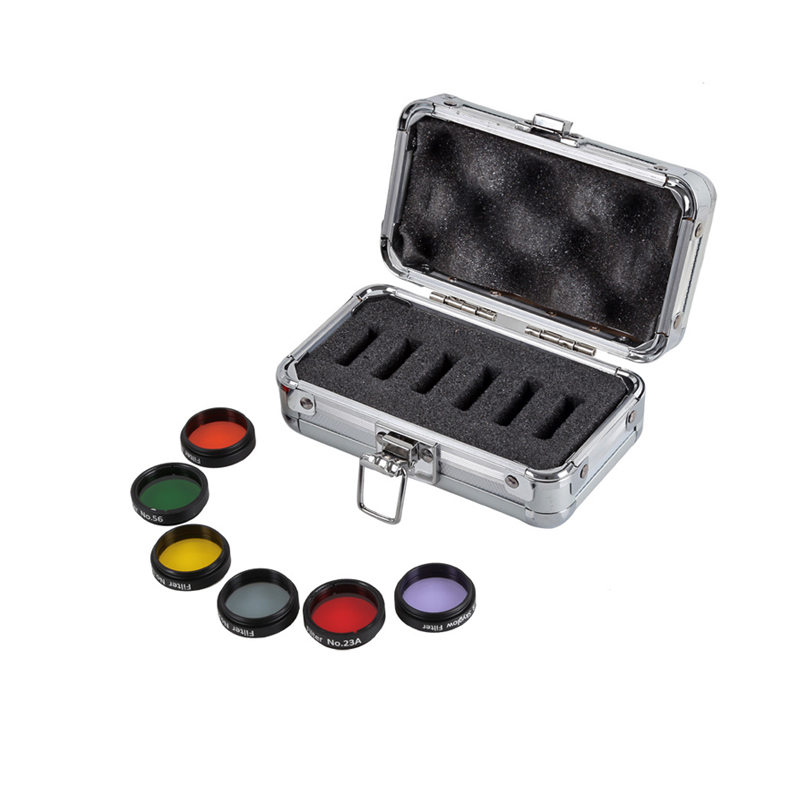 1.25 Astro Color Filters Set (6 pieces) for Astronomical Telescopes Eyepiece Ocular Lens Planets Nebula Filter Moon&SkyGlow