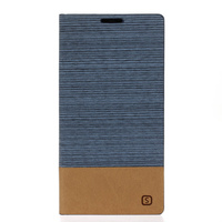 Canvas Pattern Stand Flip PU Leather Phone Back Cover Funda For Xiaomi Redmi Note 3 Pro