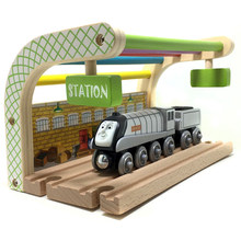 THOMAS and friend spencer Multicolored Double track station compatible with Thomas train track children's puzzle track game scen(China)