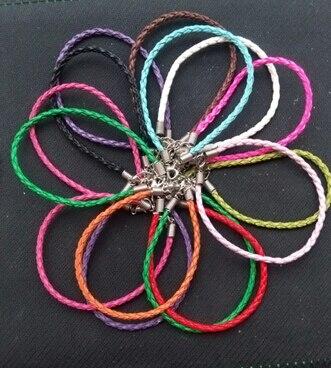 50 шт., женский кожаный браслет-Шарм