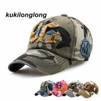 Kukilonglong Fashion Camouflage Baseball Cap Hip Hop Summer Autaum Style Hat Men Women Beisbol Hat Sports