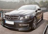 Car Accessories Carbon Fiber RZ RBS II Style Front Lip Fit For 2012 2013 W204 C63 Sedan Coupe Front Bumper Lip