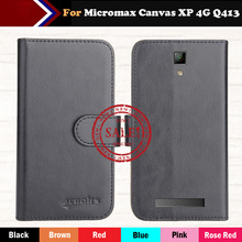 Hot!! Micromax Canvas XP 4G Q413 Case 2016 6 Colors Luxury Ultra-thin Leather Exclusive 100% Special Phone Cover Cases+Tracking цена