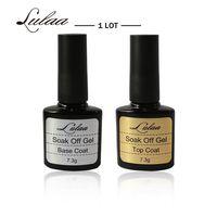 2017 Hot Selling Products Of Beauty LULAA Brand 10ML Top Coat Base Coat Uv Gel Nail