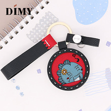 DIMY Handmade Genuine Cowhide Leather Cute Monster Altman Charms Keychain Pendant Gifts Wholesale Dropshopping Price Bags