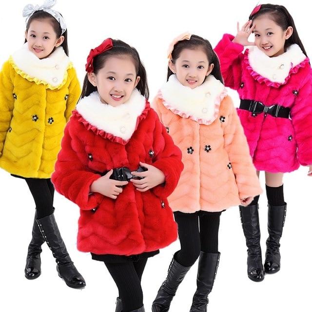 Online Shop winter coats for teenage girls faux fur caps girls ...