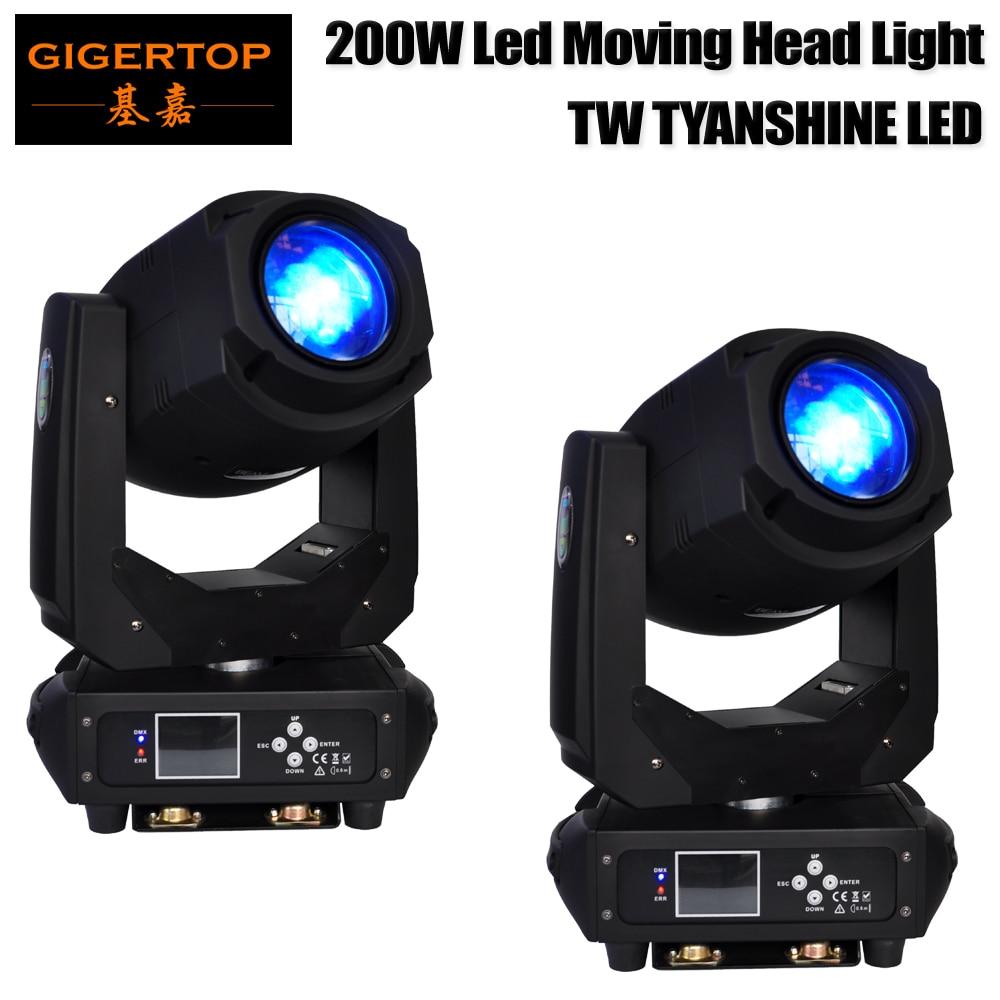 TNT/FEDEX/UPS 2 Pack Led Moving Head Light 200W White LED DMX512 For Stage Light Disco DJ Church Wedding Party DJ Show Live