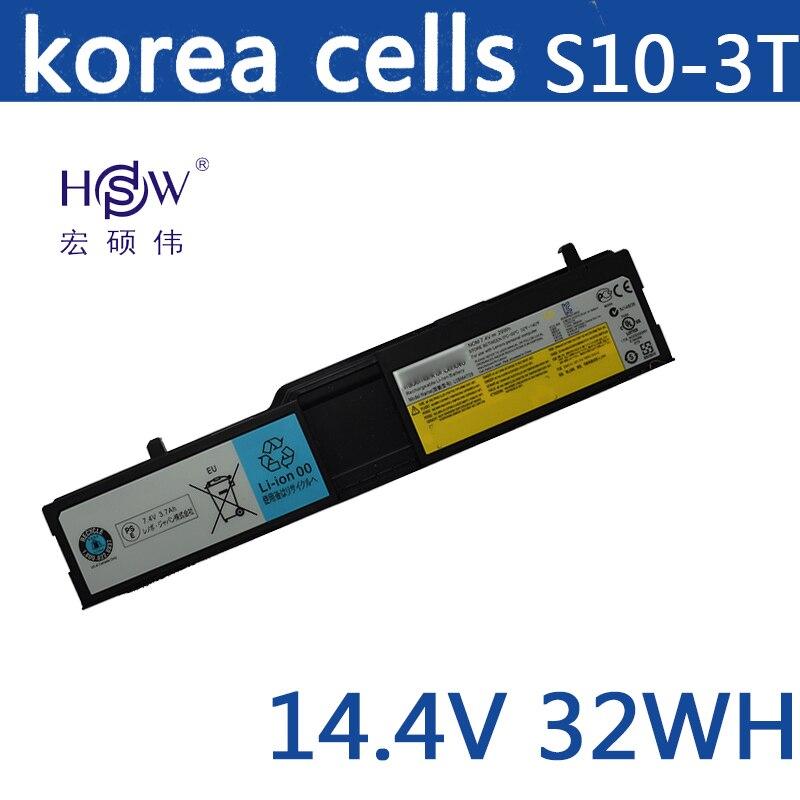 HSW batterie d'ordinateur portable pour Lenovo IdeaPad S10-3T 57Y6450 57Y6452 L09M4T09 L09S8L09 batterie pour ordinateur portable L09S8T09 L09S4T09 batterie