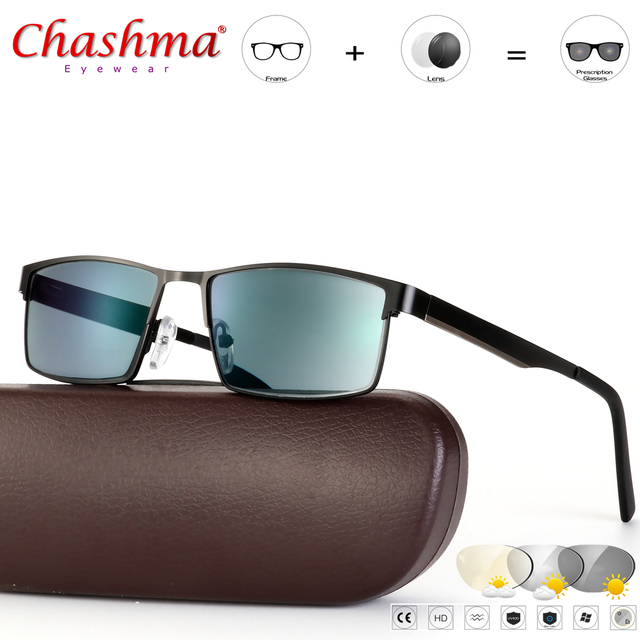 CHASHMA Transition Sunglasses Photochromic Reading Glasses for Men Hyperopia Presbyopia with diopters Outdoor Presbyopia Glasses