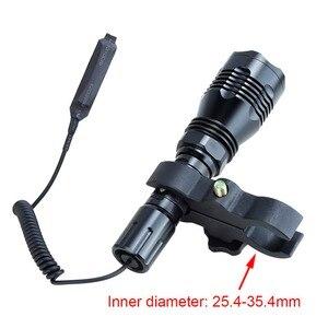 Image 4 - Torcia tattica Anjoet luce bianca/verde/rossa/blu L2 torcia da campo a led 1 modalità + pressostato + attacco lampada per fucile da caccia