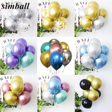 New Glossy Metal Latex Balloons 12inch Chrome Metallic Ballon Stick DIY Table Floating the Balloon Supporting Rod Balloon Holder(China)