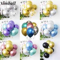 Nouveau métal brillant Latex ballons 12 pouces Chrome métallique Ballon bâton bricolage Table flottant le Ballon support tige Ballon titulaire