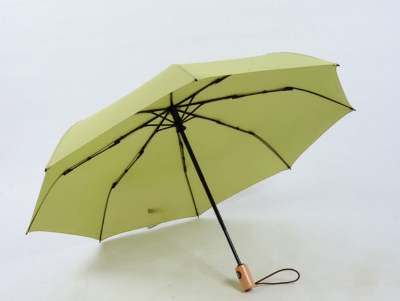 fa4429072a79 US $22.12 |Japanese Quality solid color Fully Automatic folding Umbrella  Men Anti UV Parasol Wooden Handle Women windproof Umbrella MS0100-in ...