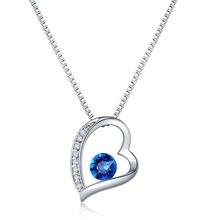 2019 New Blue clavicle chain boutique Love Festival Valentine's Day gifts ladies high-end exquisite fashion jewelry