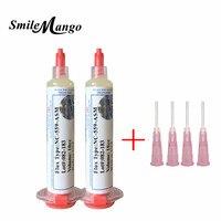 2 teile/los Made in USA! 10cc NC 559 ASM Flux paste blei freies solder paste solder flux + 4 stücke Nadeln-in Werkzeugteile aus Werkzeug bei