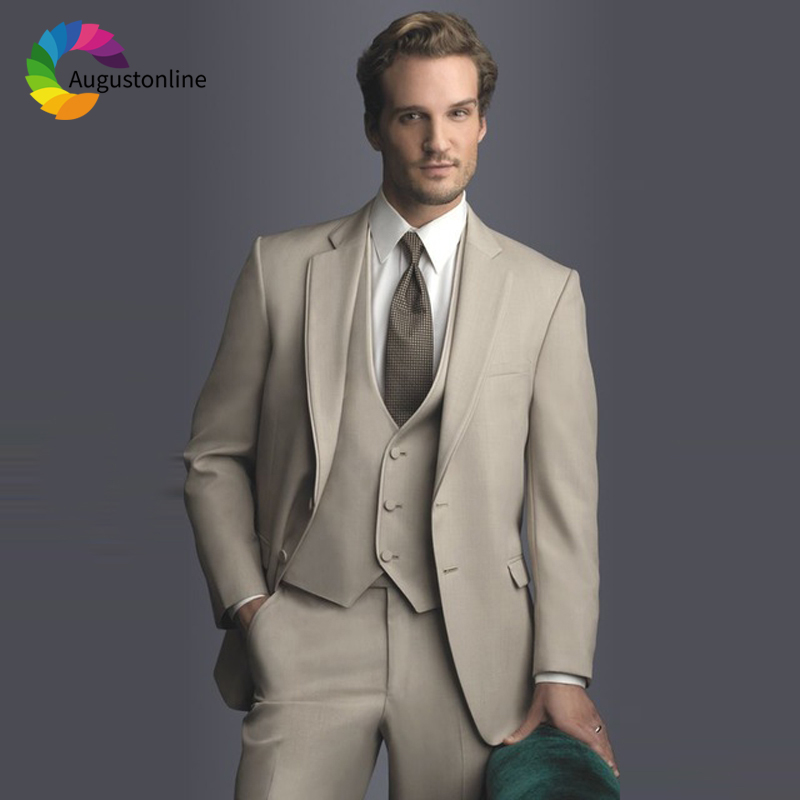 63db179f31 Di Sposo Pantaloni Vestiti Fit Smoking Prom Beige Color giacca ...