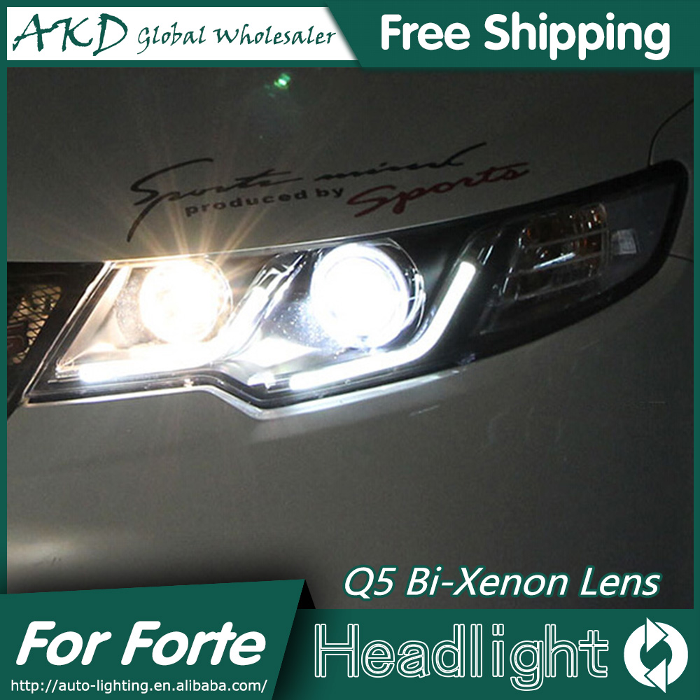 AKD Car Styling for Kia Forte Headlights 2010-2014 Cerato LED Headlight DRL Bi Xenon Lens High Low Beam Parking