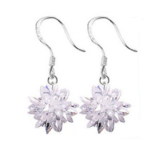 NEHZY 925 Sterling gioielli in argento donna di Ghiaccio orecchini di cristallo di nuovo modo squisito pietre bella fiori bella principessa