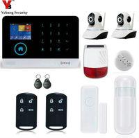 Yobang Security Home Intrusion APP WIFI GSM Alarm System IP Camera Security Surveillance Outdoor Flash Siren Detector Sensor
